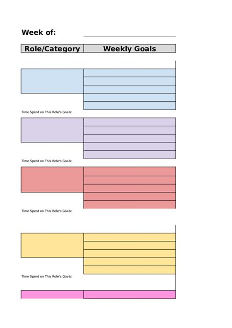 planner template 2018 weekly planner template fillable printable pdf forms handypdf