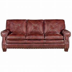 mckinney 88quot burgundy leather sofa With burgundy leather sofa bed