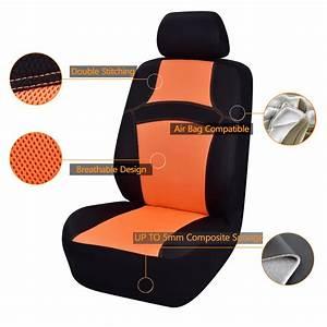 Siege Auto Avec Airbag : car pass housse de siege auto universelle orange conception de maille 14 pi ces compatible ~ Dode.kayakingforconservation.com Idées de Décoration