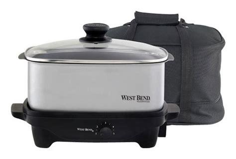 West Bend 5quart Oblong Slow Cooker Multi 84915  Best Buy