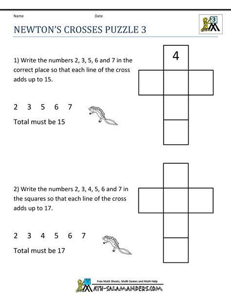 math puzzle worksheets  grade  images fun math