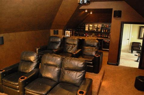 attic converted to media room