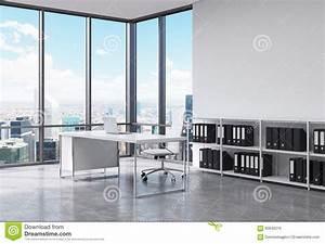 Bureau New York : un lieu de travail de pr sident dans un bureau panoramique ~ Nature-et-papiers.com Idées de Décoration