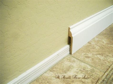 crown molding cheap a stroll thru install wide baseboard molding