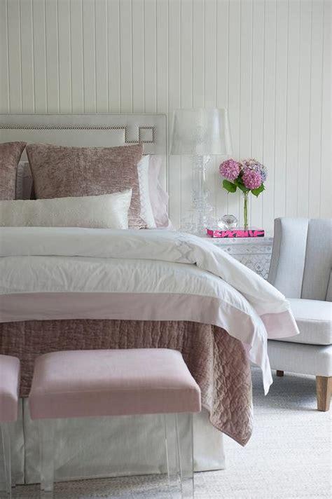 light pink and gray bedding light gray greek key headboard with pink bedding