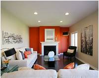 fine accent wall colours living room paint color ideas - orange - white   For the Home   Pinterest   Living room paint ...