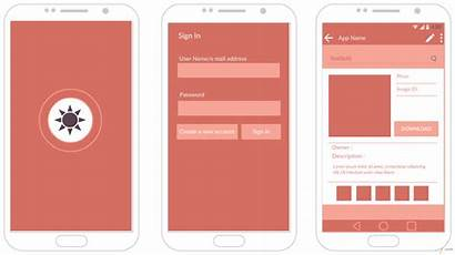 Mockup Android App Template Templates Interface Ui