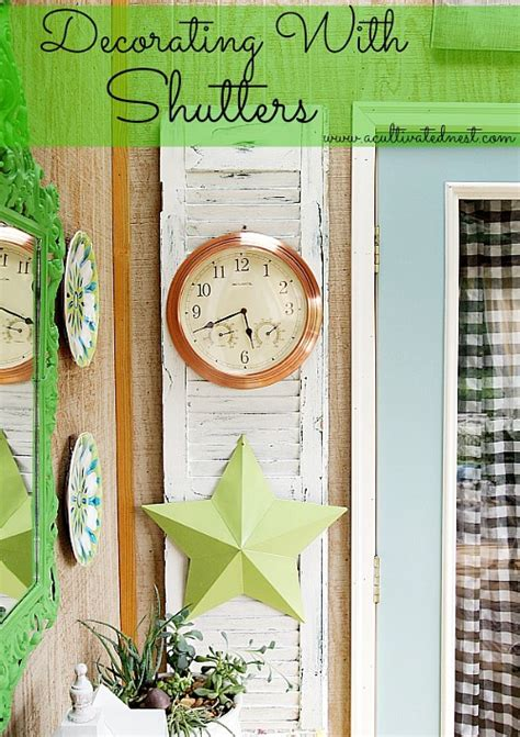 awesome ways  repurpose  shutters