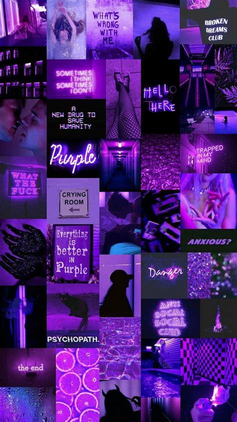purpleness in 2020 aesthetic collage neon wallpaper