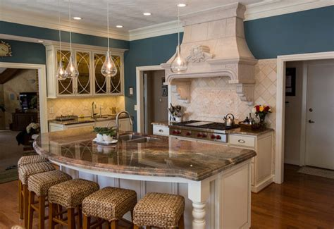 kitchen islands with sink and seating 16 impressive curved kitchen island designs 9475