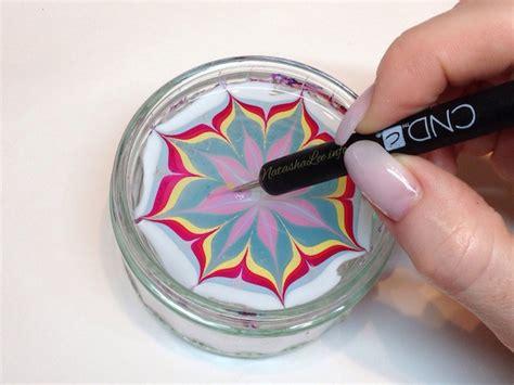 Easy Water Marble Nail Art With Nail Polish