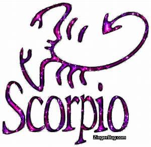 Scorpio Pink Purple Glitter Astrology Sign Glitter Graphic ...