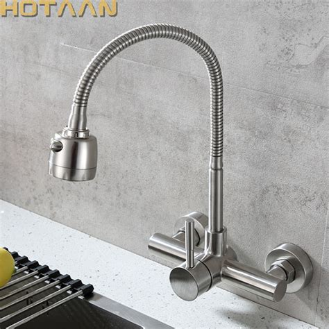 Mounted Kitchen Faucet With Sprayer by Aliexpress Buy Wall Mounted Sprayer Kitchen