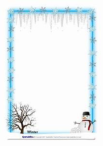 Free Christmas Stationery Templates Word Weather And Seasons A4 Page Borders Sb894 Sparklebox