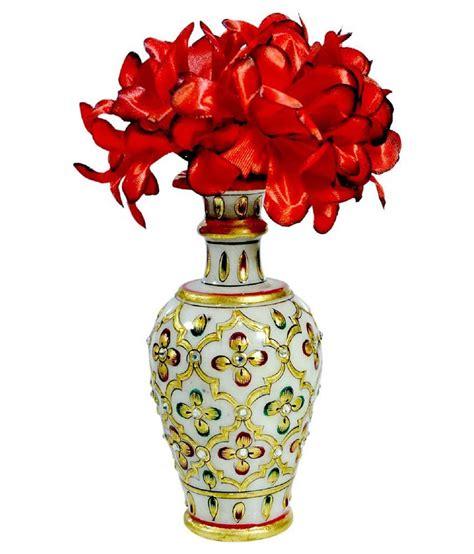 Buy Flower Vase by Pooja Creation White Marble Flower Vase Buy Pooja