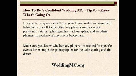 wedding mc     confident wedding mc youtube