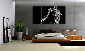 Erotische Bilder Für Schlafzimmer : black illusion girl leinwand 4 bilder xxl bild d00669 die leinwandfabrik ~ Michelbontemps.com Haus und Dekorationen
