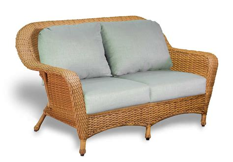 Outdoor Wicker Loveseat by Tortuga Outdoor Sea Pines Wicker Cushion Loveseat Ls1