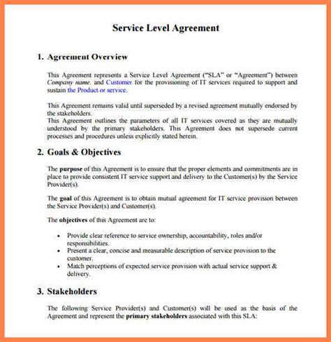 sample rental agreement letter 4 customer service level agreement template purchase