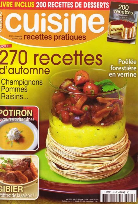 magasine cuisine magazine cuisine recettes pratiques