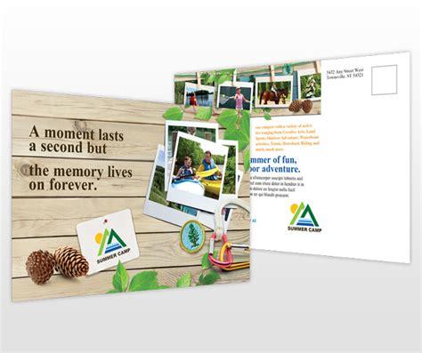 kids family summer camp postcard templates
