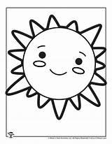 Sun Coloring Pages Printable Kawaii sketch template
