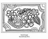 Rug Tangle Hooking Pattern Floral Hook Coloring Gay Tips Template Templates Cindi sketch template