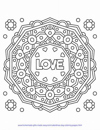 Coloring Easy Mandala Valentines Homemade Valentine Printable