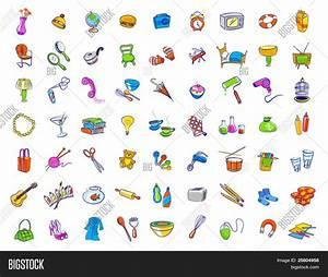 Random household objects Stock Vector & Stock Photos ...