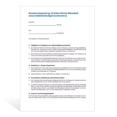 muster freelancingvertrag