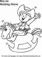 Rocking Coloring Horse Boy sketch template
