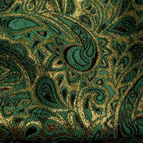 Wedding And Special Event Teal And Gold Paisley Brocade For