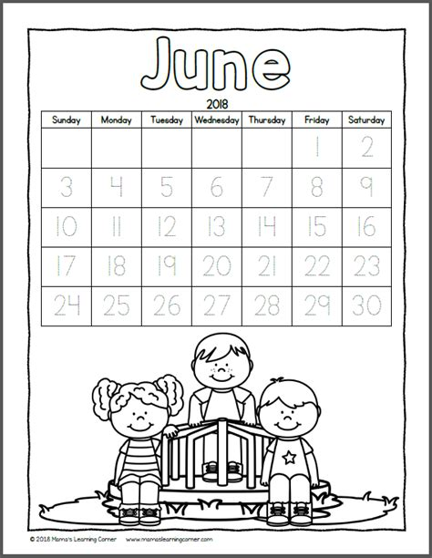 color calendar mamas learning corner