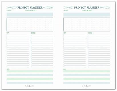 Project Printable Planner Planning Template Sheet Half
