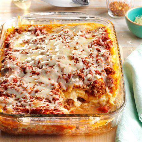 lasagna with cottage cheese four cheese lasagna recipe taste of home