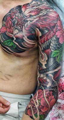 mastermike  inkfiendart tattoo dragon coverup tattoo