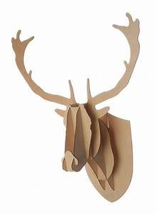 Deer head plywood medium moose mantle wall decor