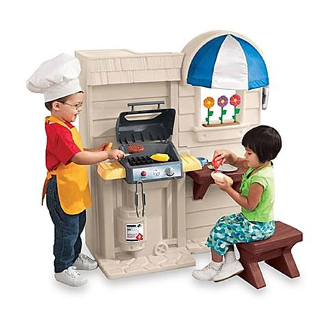 tikes kitchen with grill inside outside cook n grill kitchen by tikes