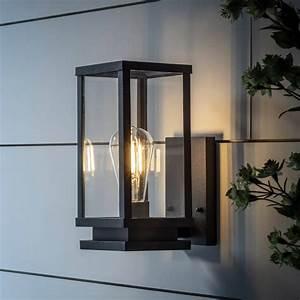Black, Metal, Lantern, Wall, Light, By, Lights4fun
