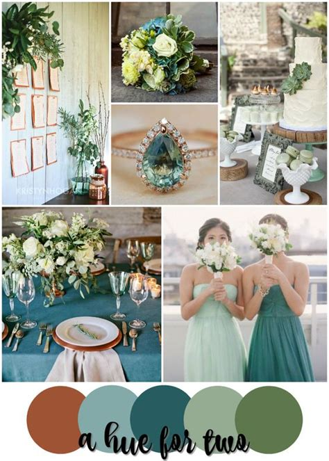 country wedding colors rustic wedding colors copper and teal on