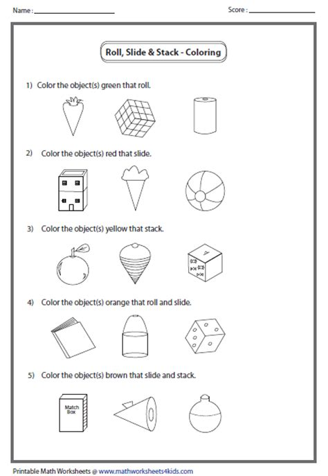 free coloring pages of with 2d shapes properties
