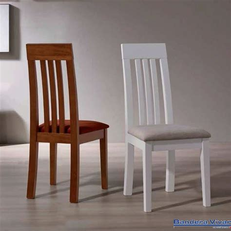 silla de comedor de madera palma bandera vivar