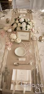 Deco Mariage Romantique : d coration de table mariage classico romantique rose blanche perles cr me et touche de ruban ~ Nature-et-papiers.com Idées de Décoration