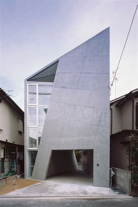 folded houses cool japan architecture design