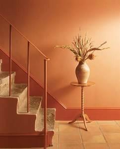 Decoration Peinture : peinture escalier couleur orange laque satin astral ~ Nature-et-papiers.com Idées de Décoration