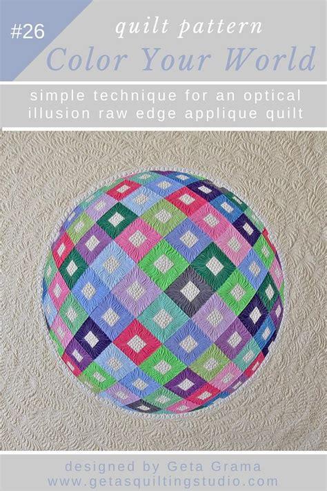 Quilting Applique Patterns by Optical Illusion 3d Applique Quilt Pattern