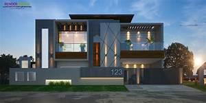 Architectural, Modern, Elevations, U2013, Modern, House