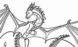 Wings Coloring Fire Skywing Deviantart sketch template