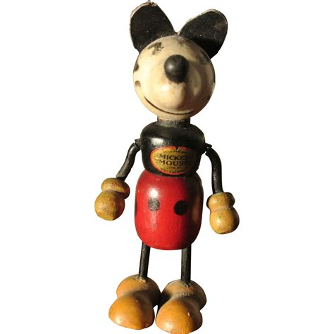 """1930's 4"""" Mickey Mouse Excellent Condition And All"""