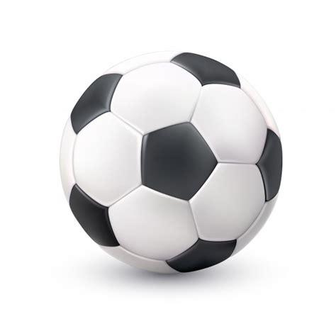 foto de Immagine nera bianca realistica del pallone da calcio